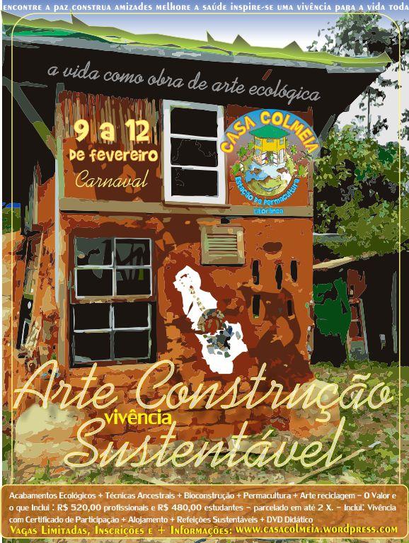 cartaz arte construção sustentavel